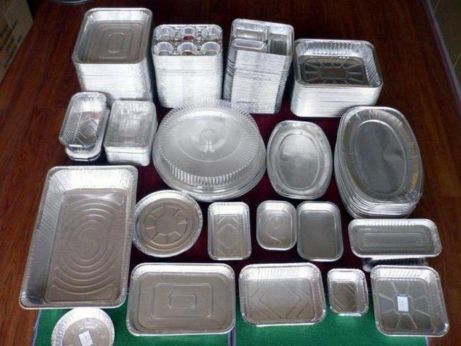 recipient de aluminiu alimentar