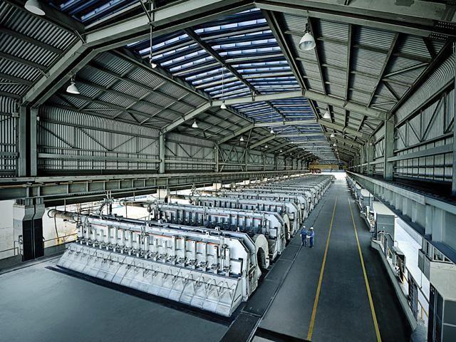 producția de aluminiu pe scară largă