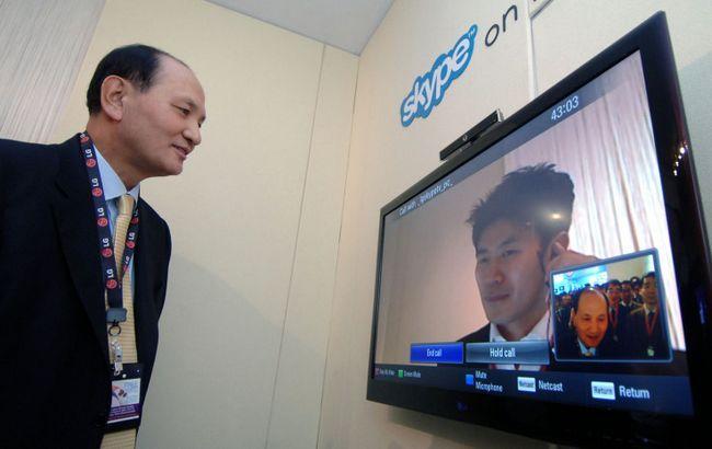 skype pe televizorul inteligent