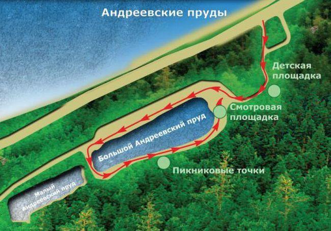 Cum pentru a ajunge la iazurile Andreevskiye Saratov