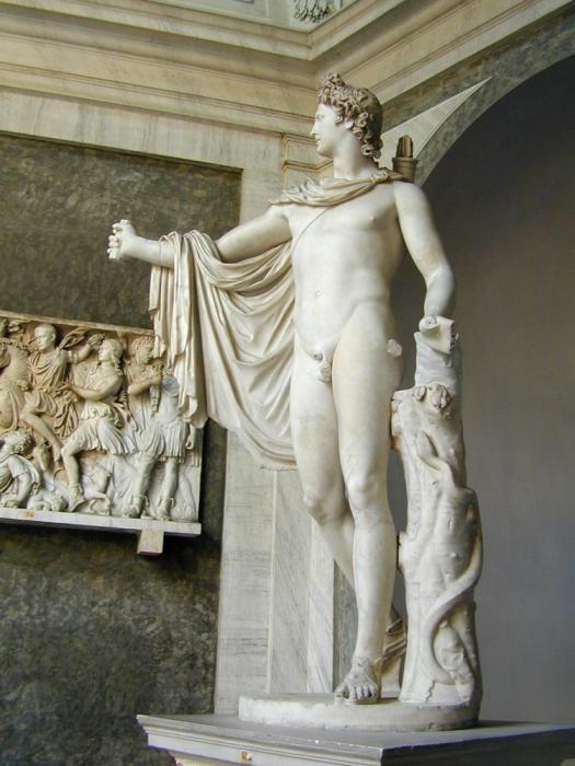 Apollo Belvedere - un simbol al artei Greciei antice