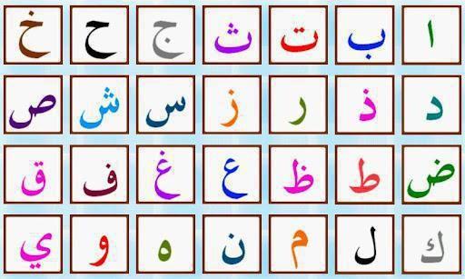 literele alfabetului arab