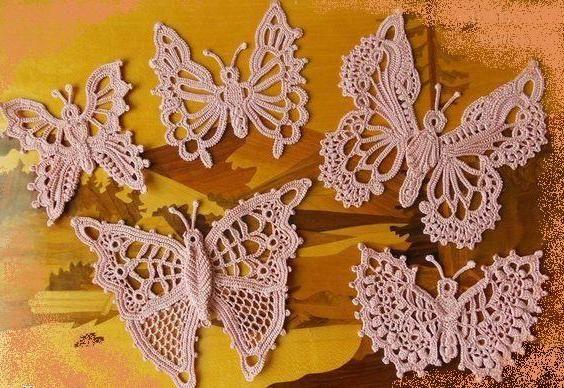 fluture schema de croșetat și descriere