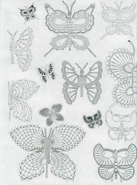 fluture diagramă croșetat și descriere cu fotografie