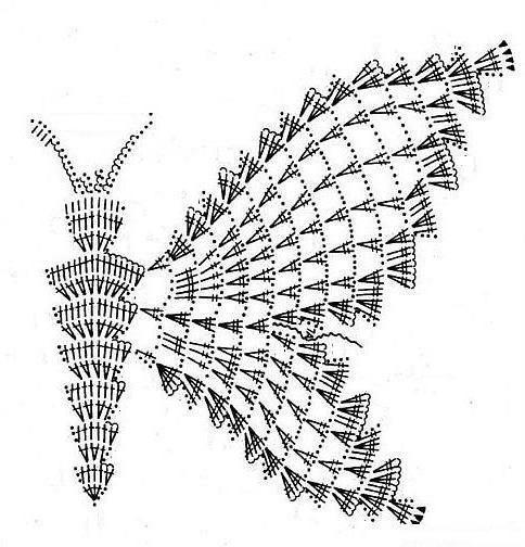 fluture model de croșetat și descriere pentru începători
