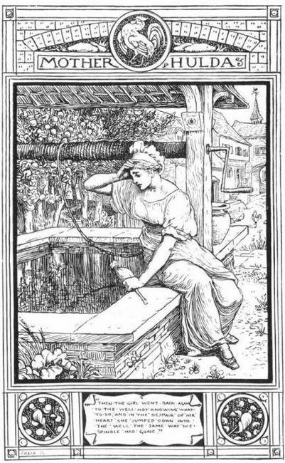 бабушка метелица немецкая народная сказка
