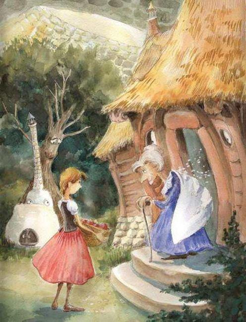 бабушка метелица немецкая сказка краткое содержание