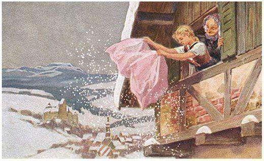 бабушка метелица немецкая народная сказка краткое содержание