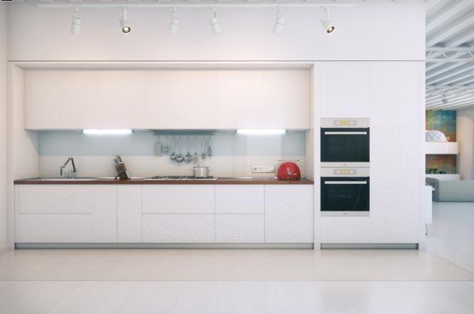 bucătărie albă în interior