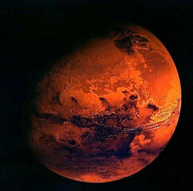 ce planetă este mai mult teren mars