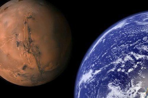 Marte în dimensiune sunt mai mari decât pământul sau mai puțin