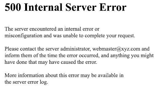 500 de eroare internă server youtube