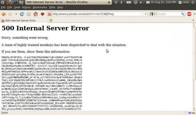 500 server de eroare internă