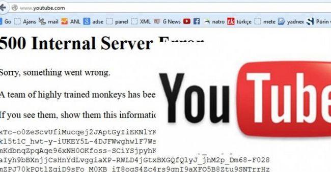 500 de erori interne ale serverului YouTube