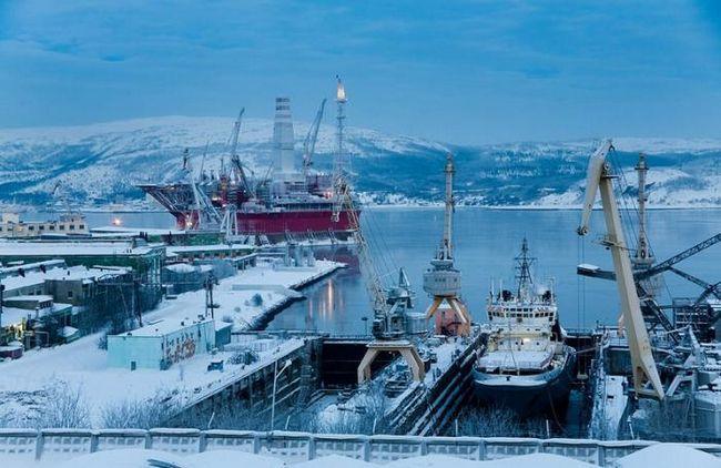 Maree în Murmansk