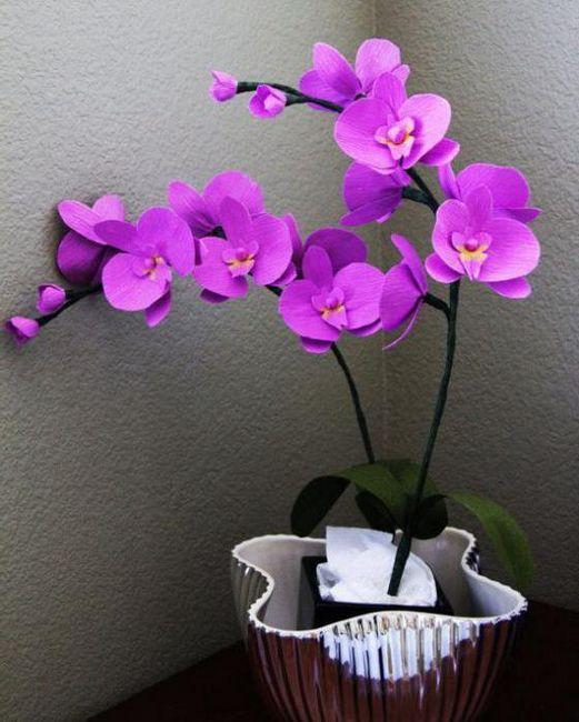 Orhidee din hârtie ondulată
