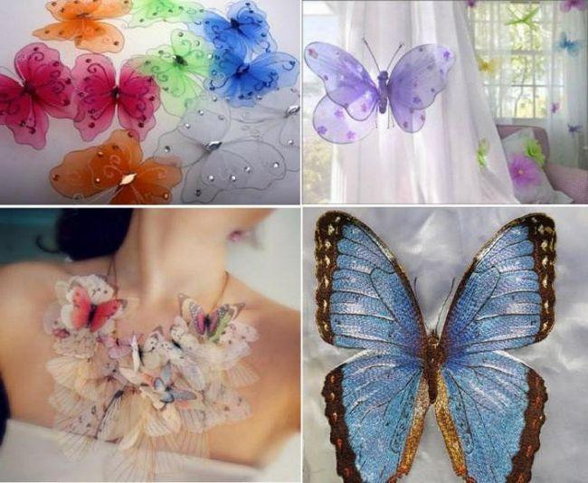 fluture din clasa de master organza