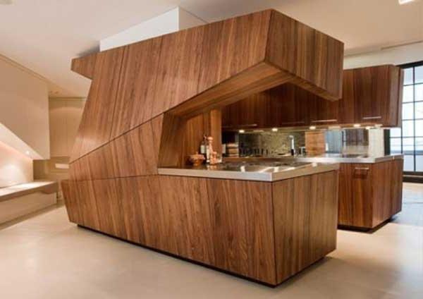 Bucătărie din lemn fotografie