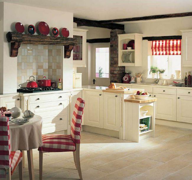 Interiorul bucătăriei în stilul țării