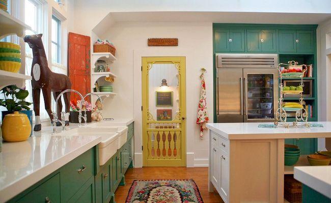 Bucătărie interioară în stil eclectic