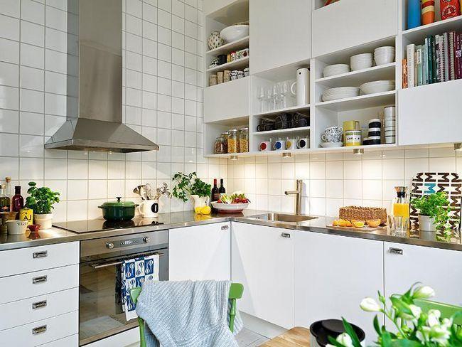 Bucătărie interioară în stil scandinav