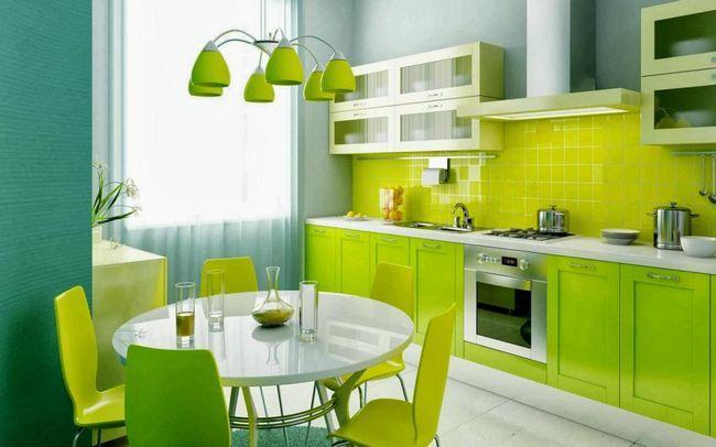 Culoare în interiorul bucătăriei
