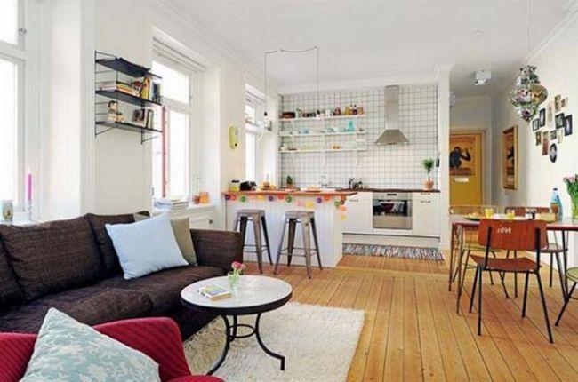cameră de 20 mp se transformă în bucătăria din camera de zi
