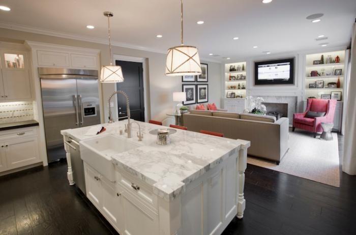 Bucătărie mică cameră de zi. Design.