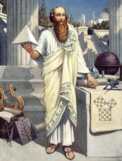 Pitagora, matematician grec vechi