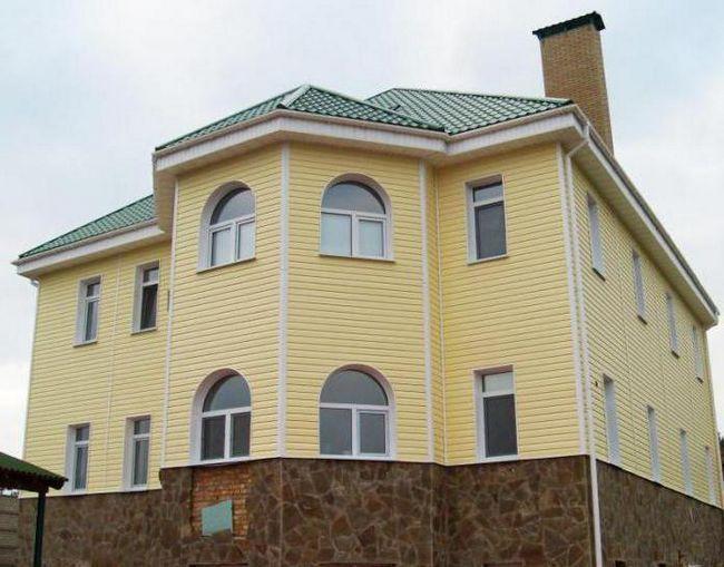 Finisarea casei cu panouri de fațadă Alta-profil.