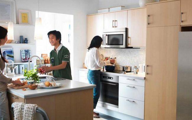 dimensiunile standard ale fatadelor bucătăriei