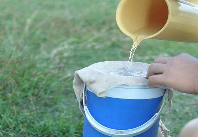 filtru de apă în condiții de teren