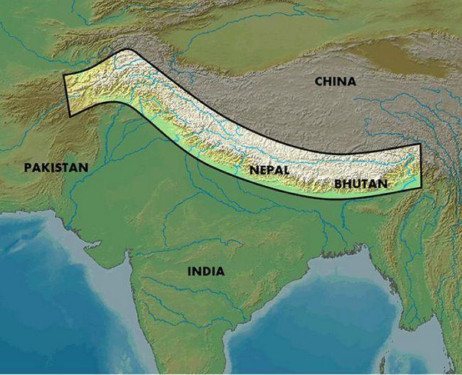 Unde sunt Himalaya: locație geografică, descriere, înălțime