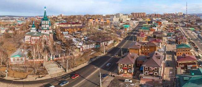 orașele mari din lista regiunilor Irkutsk
