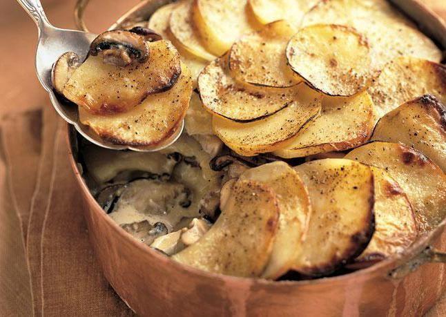 cum să gătești caserola de ciuperci de cartofi la domiciliu