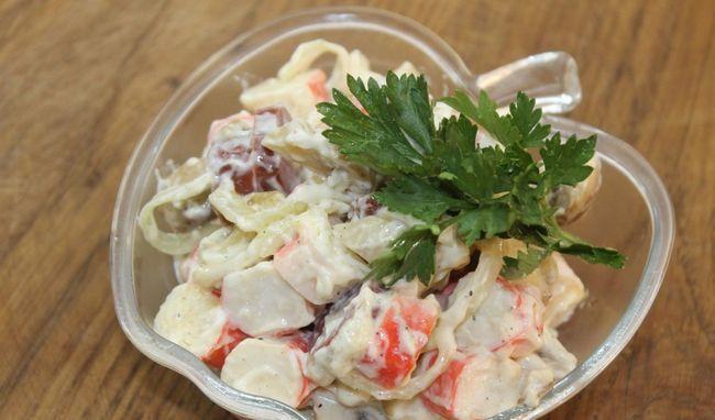 Грибной салат: варианты и способы приготовления