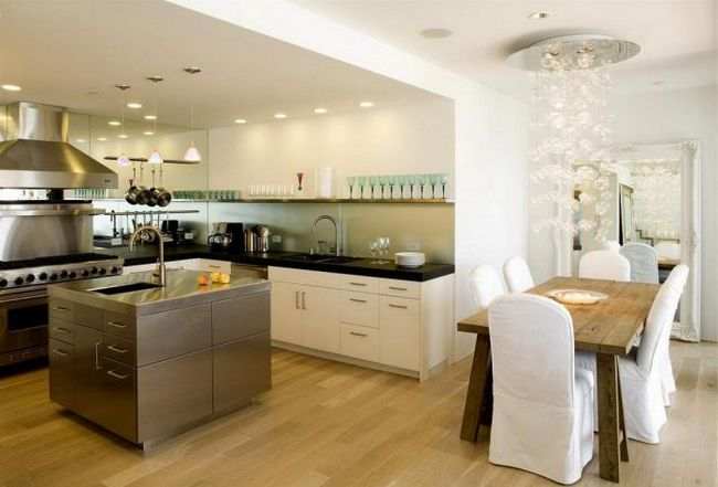 living frumos bucătărie interior