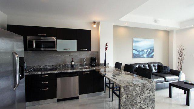 стиль кухни совмещенной с гостиной