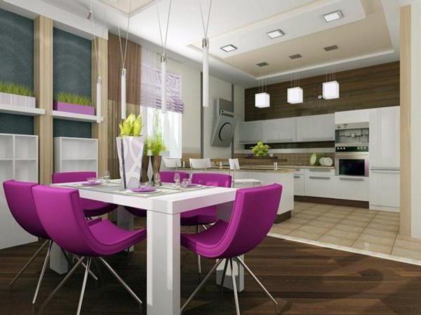 гостиная совмещенная с кухней в частном доме