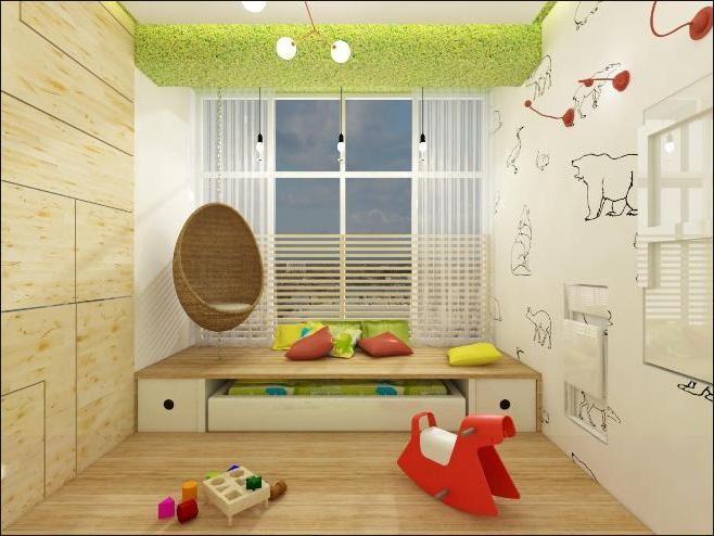 интерьер детской в эко стиле