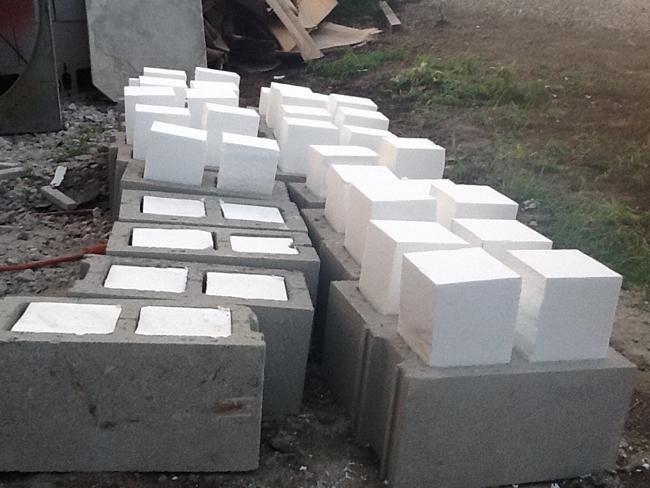 case din blocuri de spumă