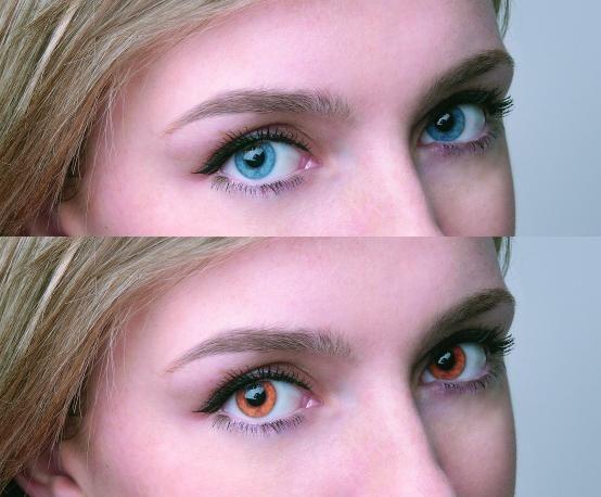 Schimbați culoarea ochilor cu Photoshop