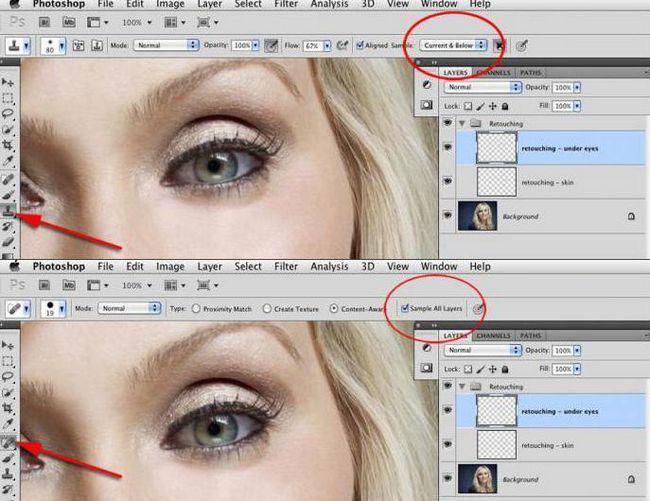 изменение формы лица в фотошопе