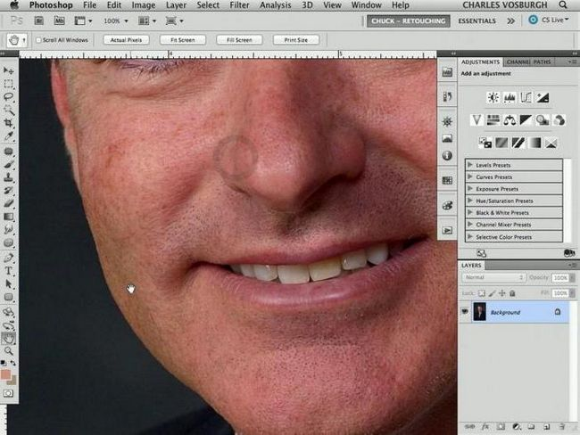 блеск лица Фотошопе