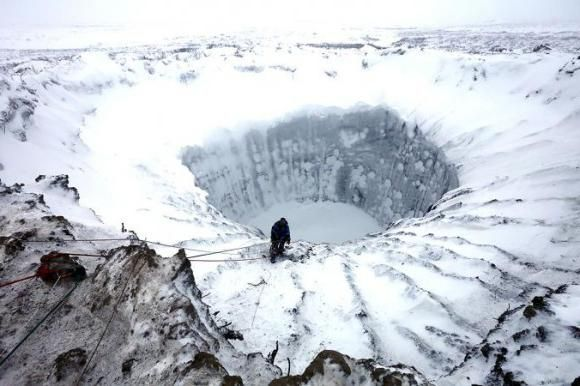 craterul de pe Yamal
