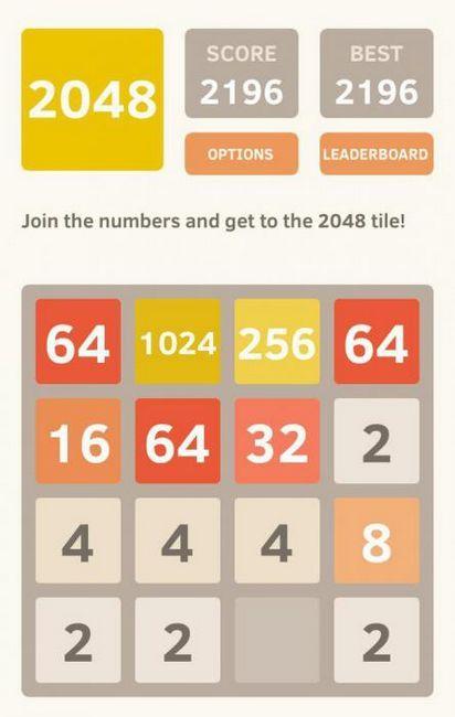 regulile jocului 2048
