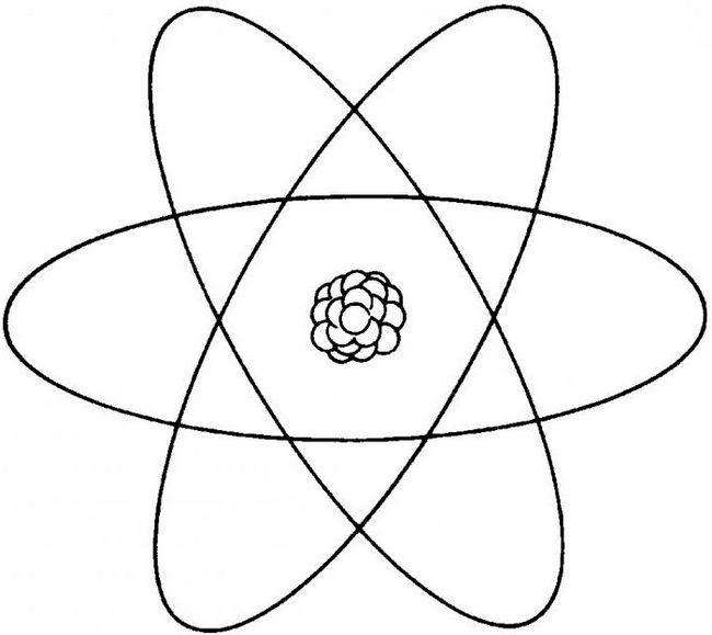 cum să desenezi un atom în etape