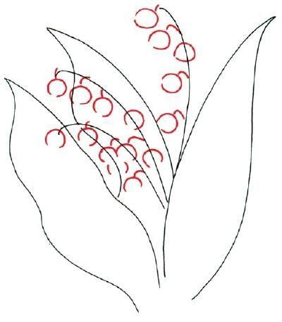 cum sa desenezi un crin din vale in etape