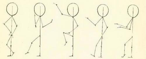 pentru a desena o persoană în mișcare pas cu pas