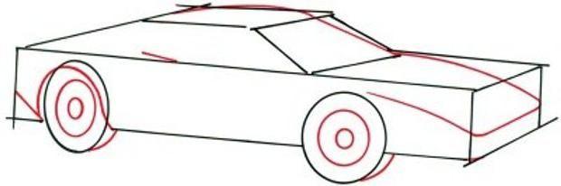cum să desenezi o mașină în etape
